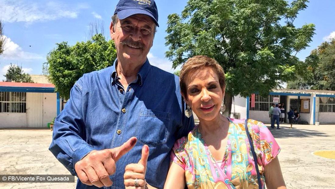 Vicente Fox y esposa