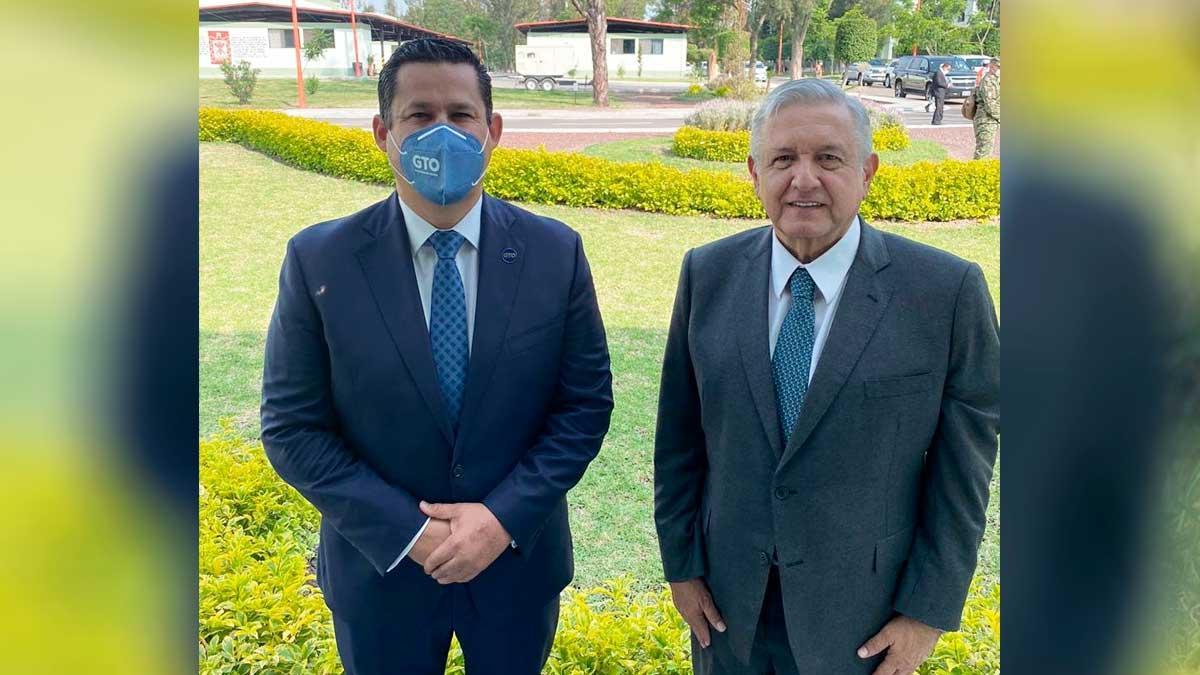 Diego Sinhue con AMLO
