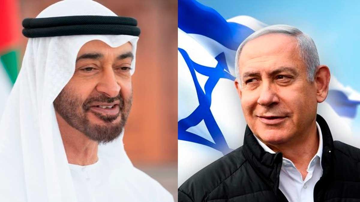 Benjamin Netanyahu y Mohammed bin Zayed