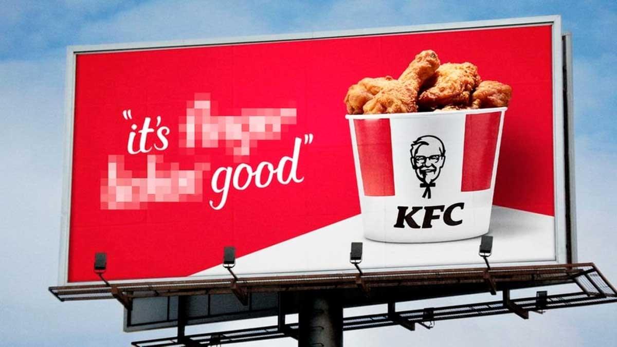 Anuncio de KFC