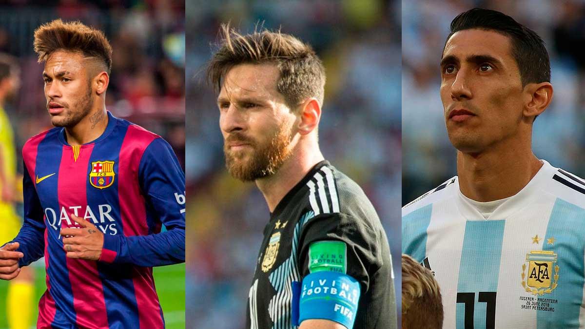 Neimar Messi y Di Maria
