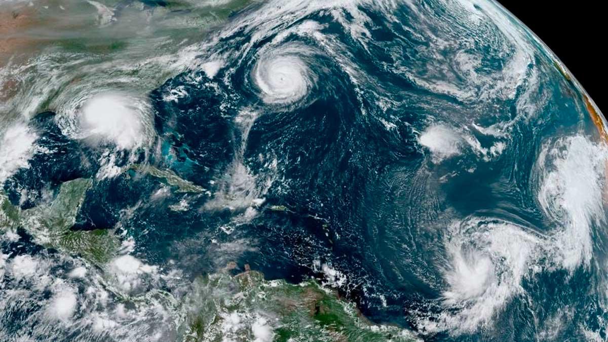 5 ciclones en oceano atlantico