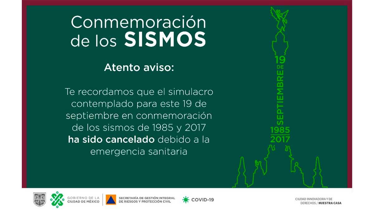 Cancelan simulacro de sismo
