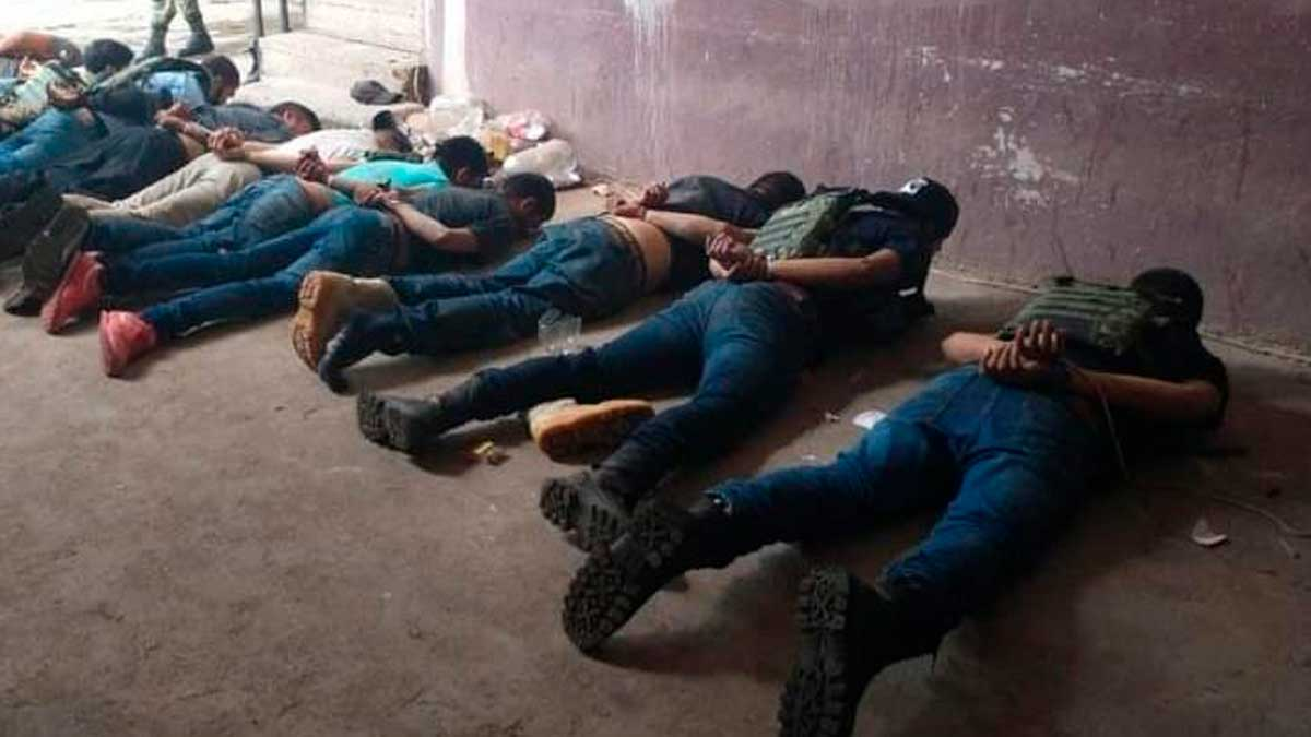 Detenidos por enfrentamiento en Aguililla