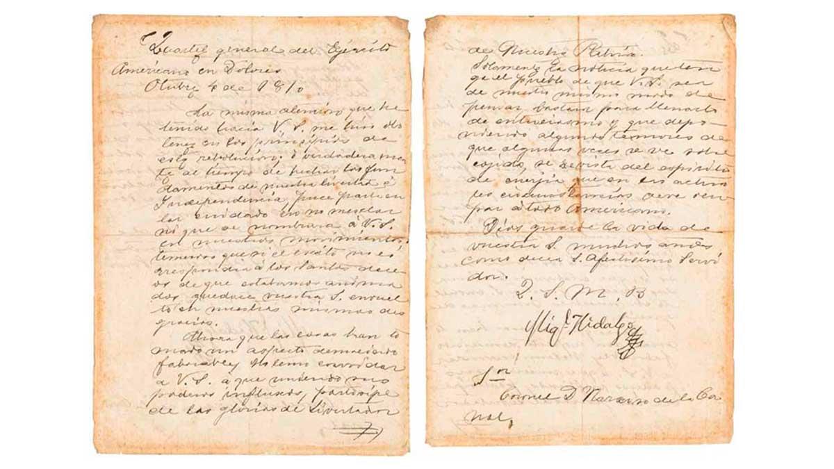 Documento de la independencia mexicana