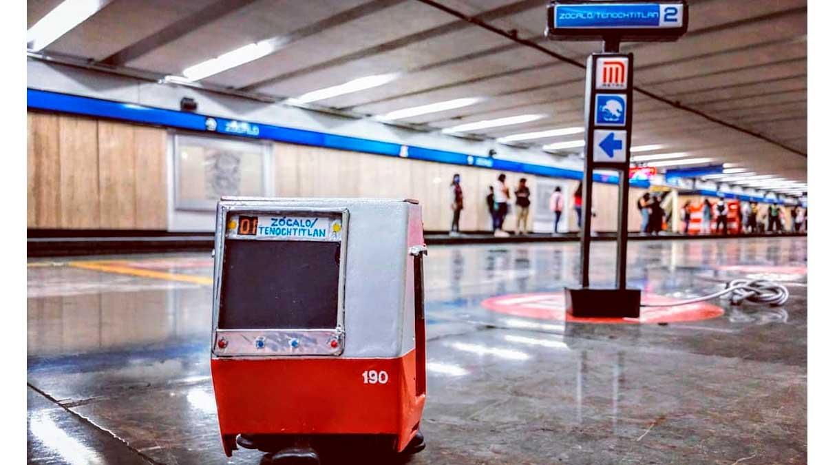 Metro y estela a escala