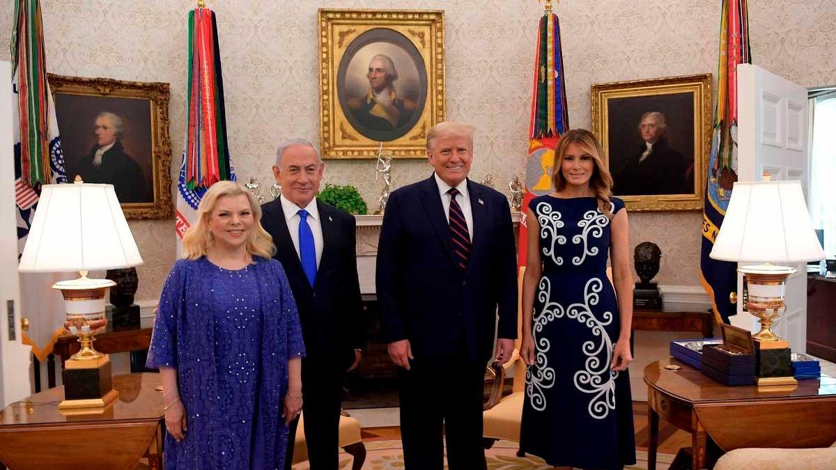 Netanyahu en casa blanca