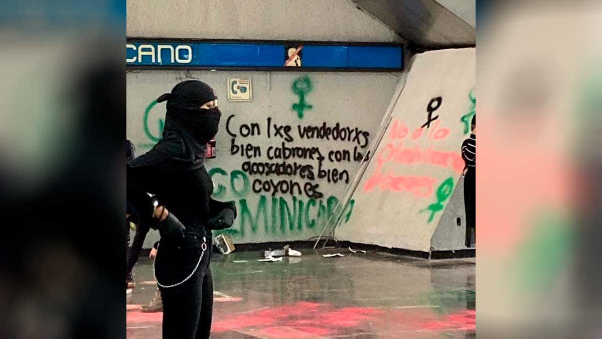 Protestas en metro Chabacano