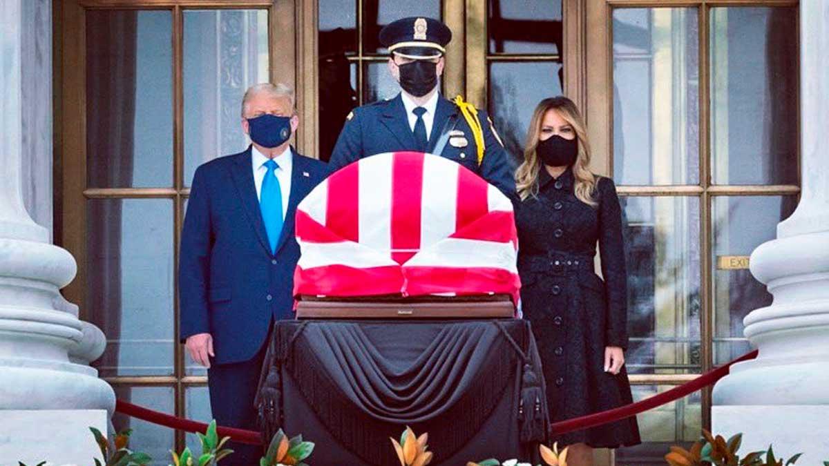 Trump en funeral