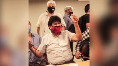 Photo of Evo Morales agradecido con el pueblo mexicano