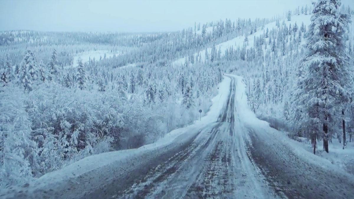 Autopista congelada Rusia
