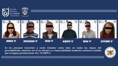 Detenidos Cartel Tlahuac