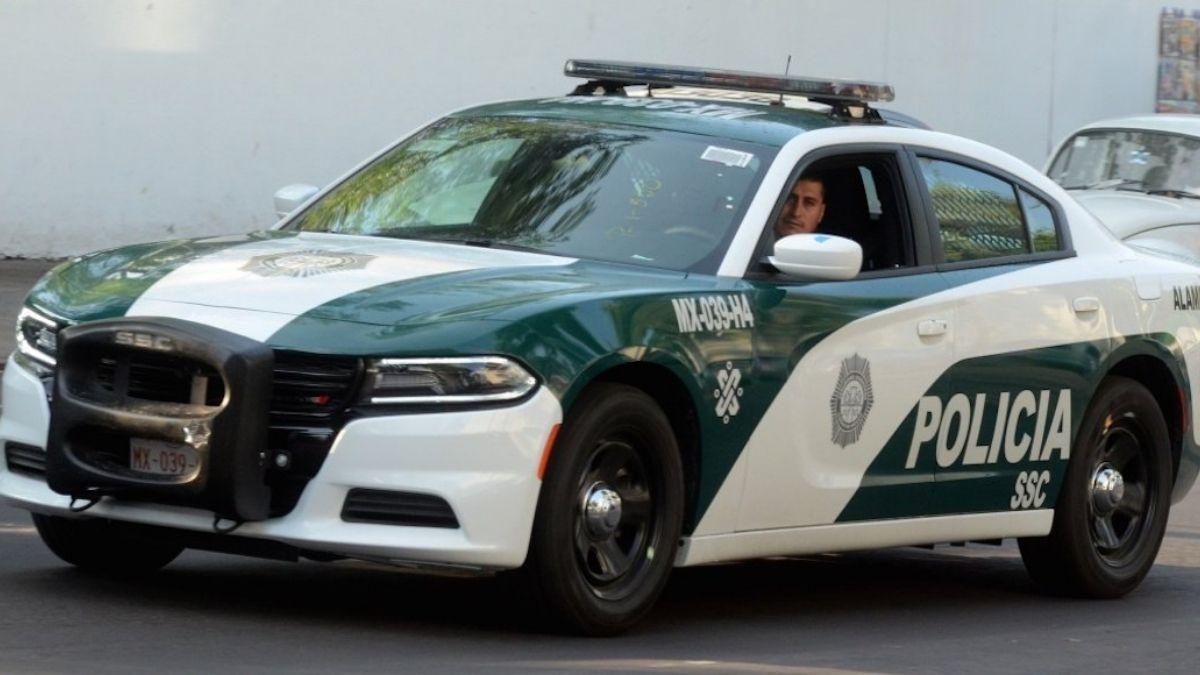 Patrulla policia Ciudad de Mexico