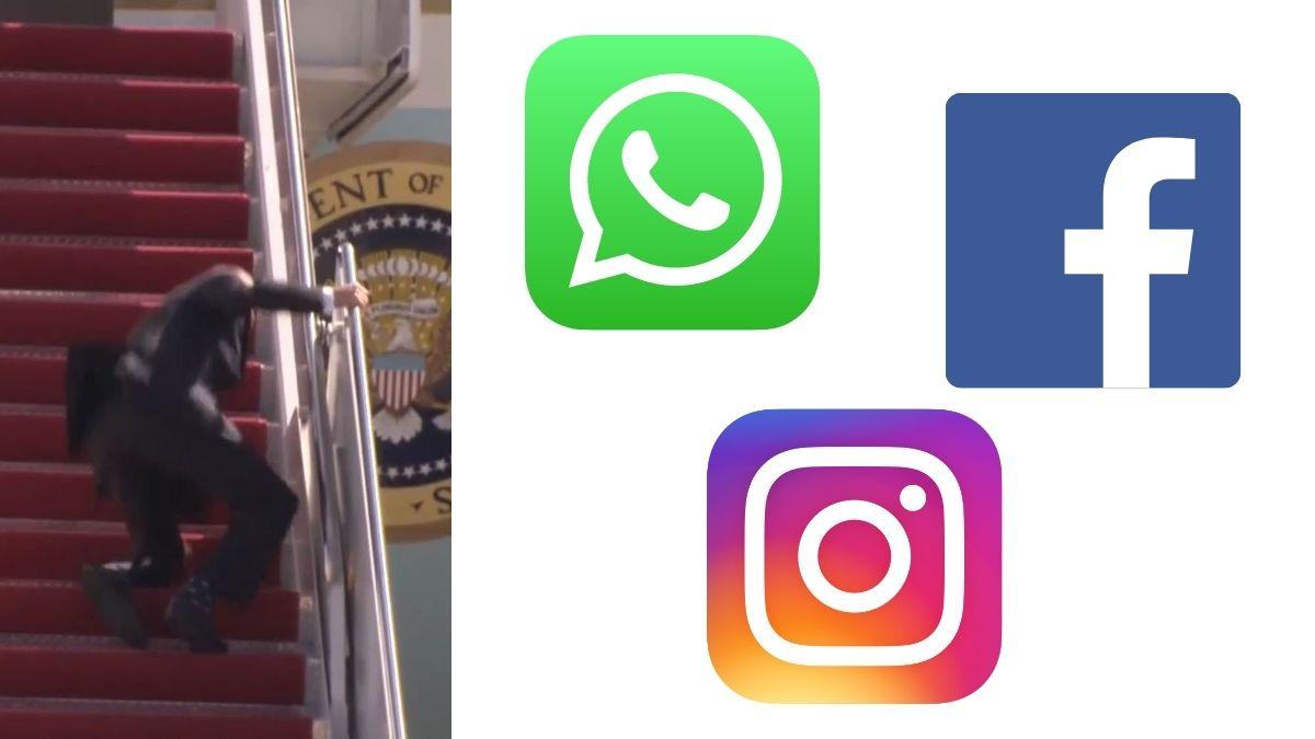 Caida WhatsApp Facebook Instagram Biden