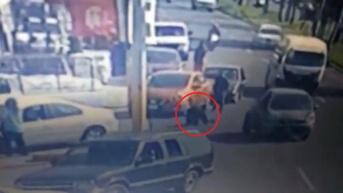 Ladron atropellado