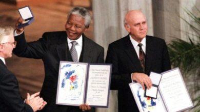 Frederik de Klerk y Nelson Mandela