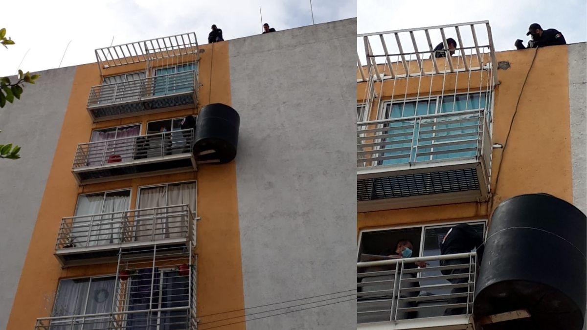 Tinaco volador Iztacalco